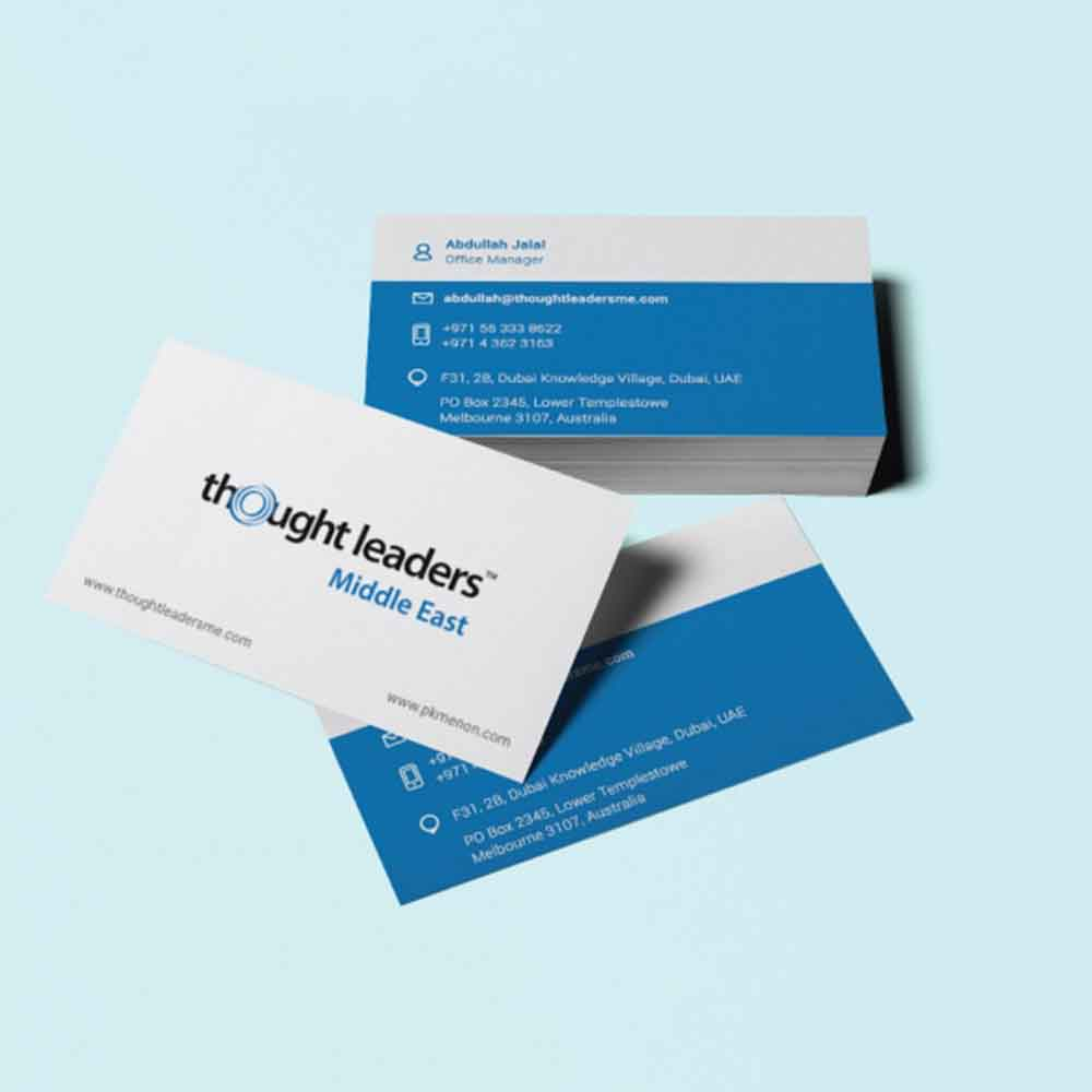 visiting card design dubai